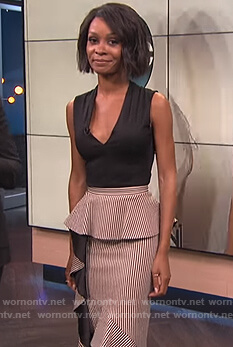 Zuri's striped peplum skirt dress on E! News