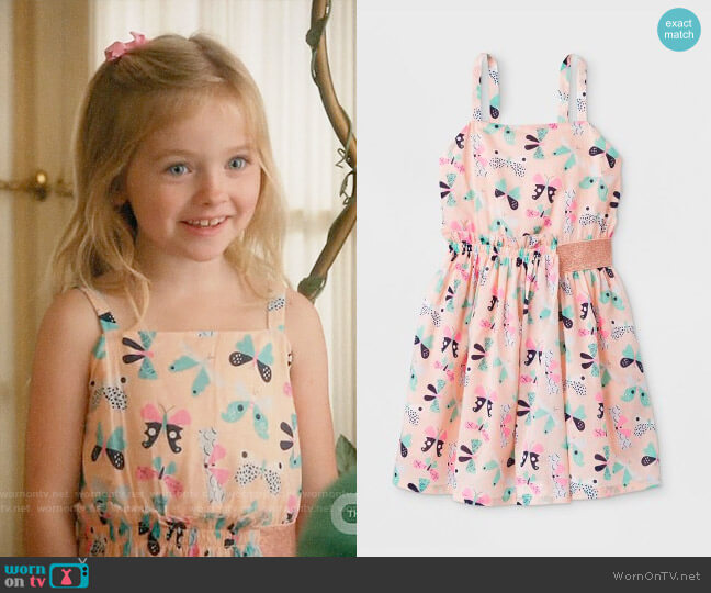 Target Cat & Jack Butterfly Print Woven Dress