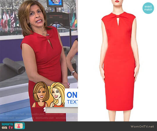 'Kezzia' Dress by Ted Baker worn by Hoda Kotb  on Today