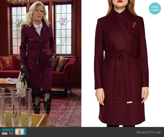 Ted Baker Kikiie Coat worn by Pamela Douglas (Alley Mills) on The Bold & the Beautiful