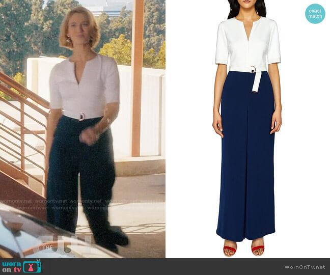 Ted Baker Aleeix Jumpsuit worn by Petra Solano (Yael Grobglas) on Jane the Virgin
