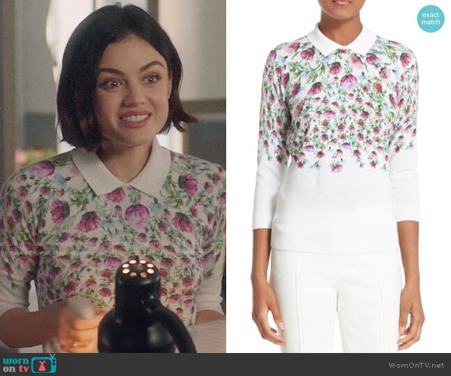 Ted Baker Karn Thistle Sweater worn by Lucy Hale on Life Sentence
