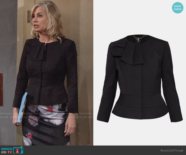 Ted Baker Rayal Jacket worn by Eileen Davidson on The Young & the Restless