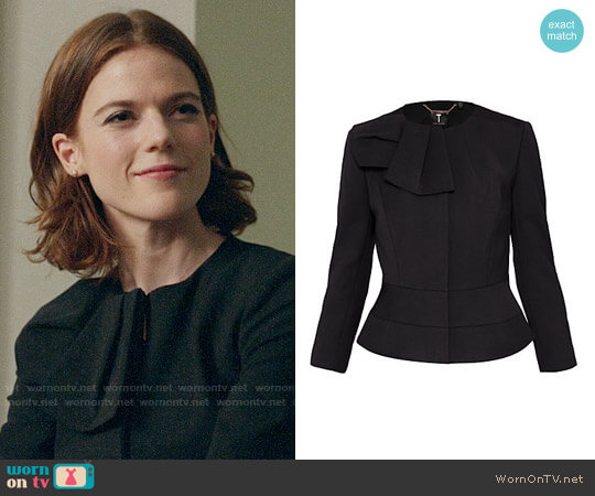 Ted Baker Rayal Jacket worn by Maia Rindell (Rose Leslie) on The Good Fight