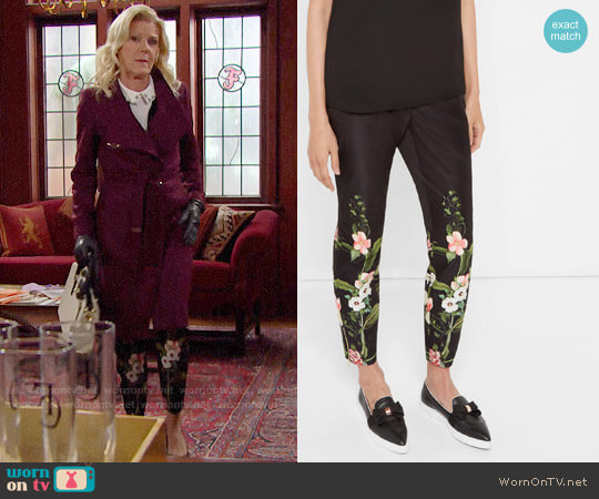 Ted Baker Secret Trellis Trousers worn by Pamela Douglas (Alley Mills) on The Bold & the Beautiful