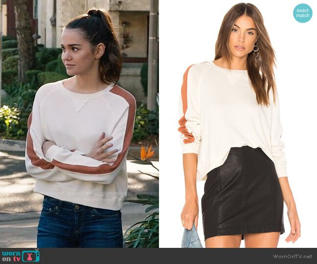 The Great Cropped Sweatshirt worn by Maia Mitchell on The Fosters