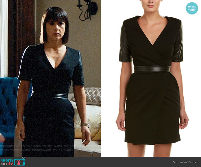 The Kooples Leather Trim Dress worn by Quinn King (Constance Zimmer) on UnReal