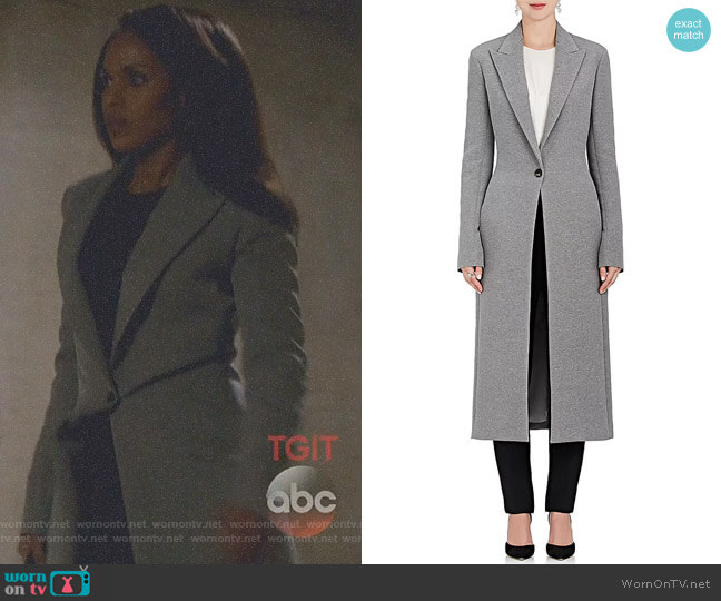 Jilo Melange Coat by The Row worn by Kerry Washington on Scandal