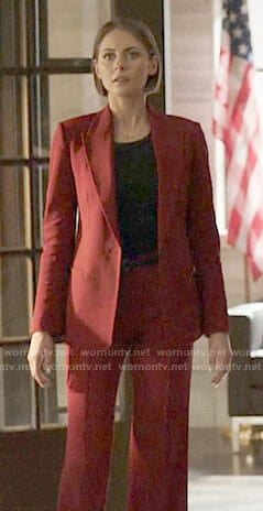 Thea's red pantsuit on Arrow