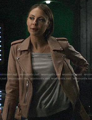 Thea's pink leather jacket on Arrow