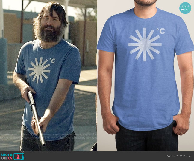 Threadless It's Going To Snow T-shirt worn by Will Forte on Last Man On Earth