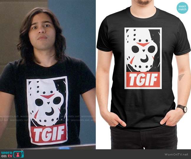 Threadless TGIF Tee worn by Carlos Valdes on The Flash