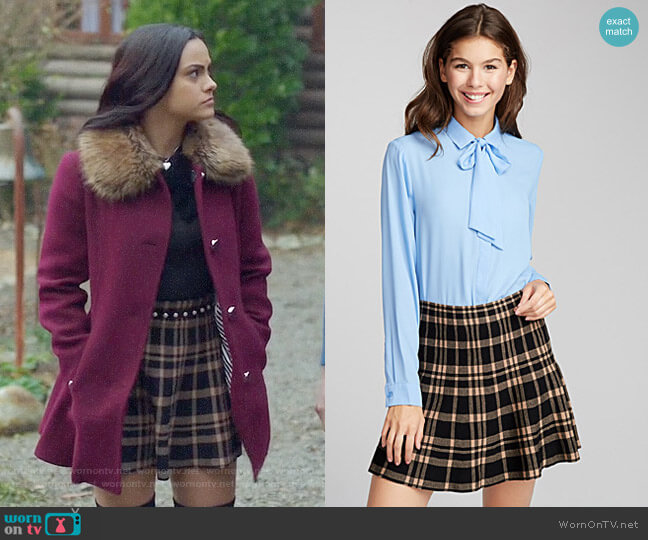 Twik Structured Knit Skirt worn by Camila Mendes on Riverdale