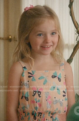 The Twins' butterfly print dress on Jane the Virgin
