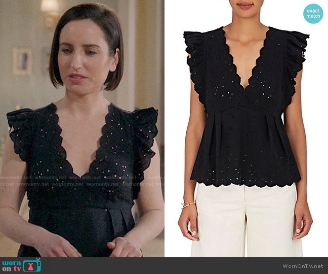 Ulla Johnson Dora Top worn by Jennifer Short (Zoe Lister-Jones) on Life in Pieces