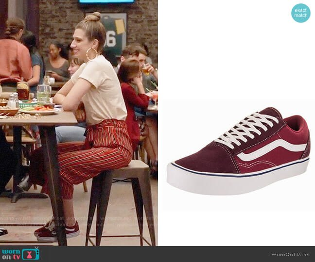 Vans Old Skool Skate Shoes worn by Emily Arlook on Grown-ish