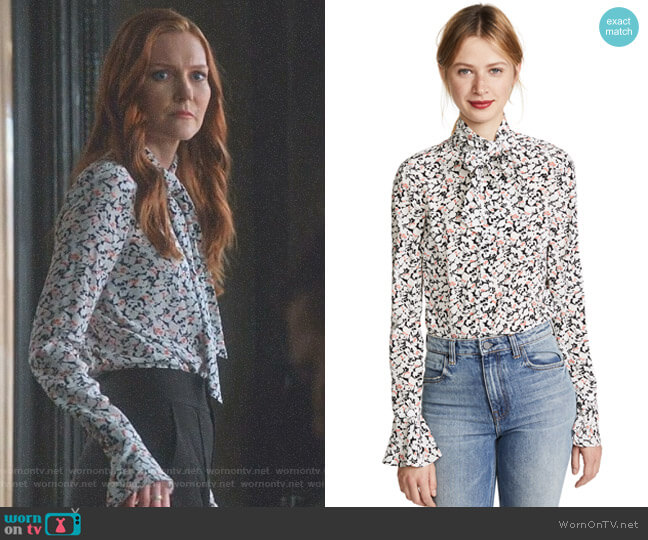 'Gamble' Blouse by Veronica Beard worn by Abby Whelan (Darby Stanchfield) on Scandal