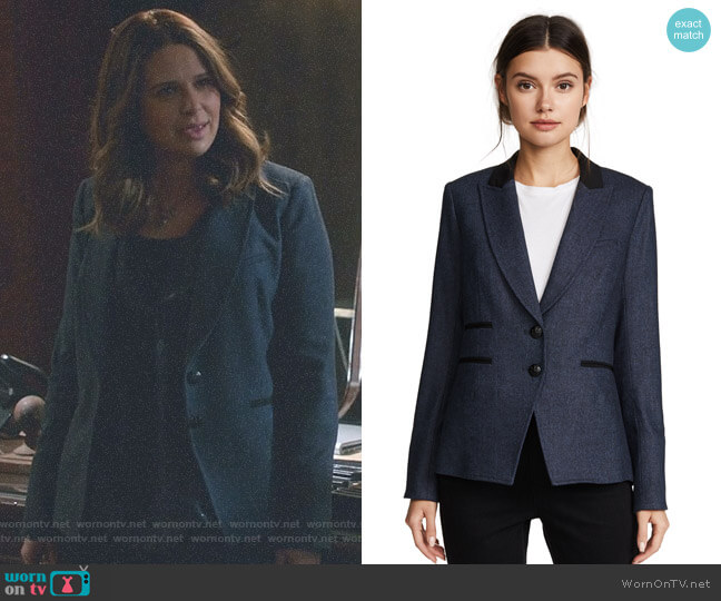 Hudson Jacket by Veronica Beard worn by Katie Lowes on Scandal