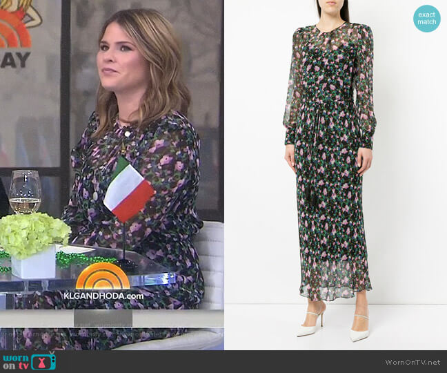 'Tatum' Dress by Veronica Beard worn by Jenna Bush Hager  on Today