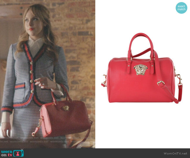 Palazzo Medusa Bowling Bag by Versace worn by Fallon Carrington (Elizabeth Gillies) on Dynasty