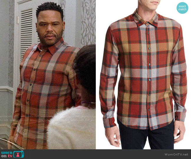 Vince Buffalo Plaid Sport Shirt worn by Anthony Anderson on Blackish