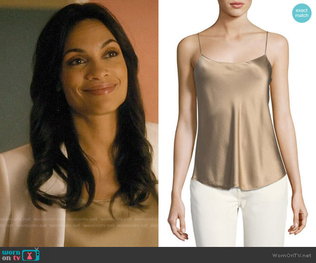Vince Scallop Silk Chemise worn by Jane Ramos (Rosario Dawson) on Jane the Virgin