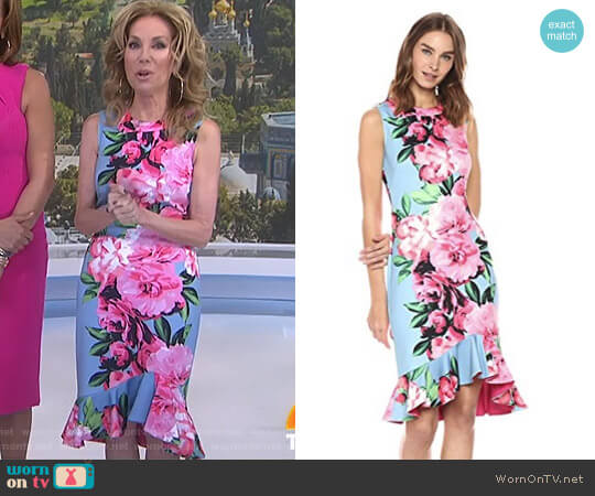 Flounce Bodycon Dress by Vince Camuto worn by Kathie Lee Gifford  on Today