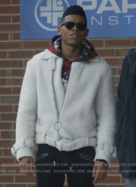Hakeem's white shearling jacket on Empire