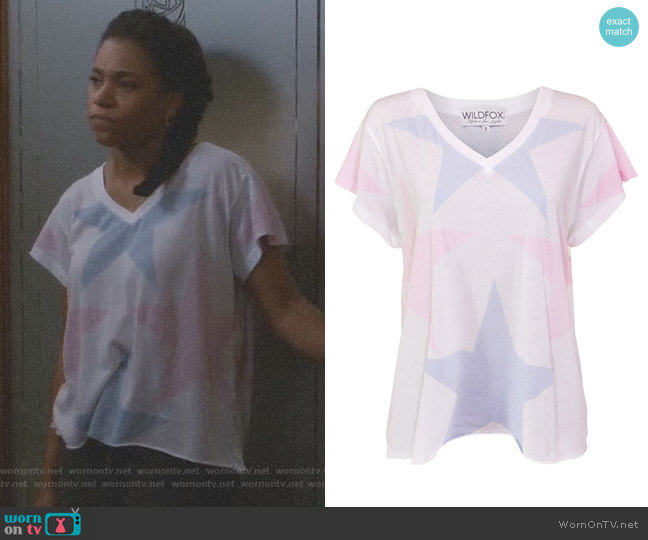 Star Crossed Romeo V-Neck Tee by Wildfox worn by Maggie Pierce (Kelly McCreary) on Greys Anatomy