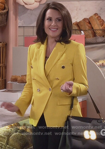 Karen's yellow blazer on Will and Grace