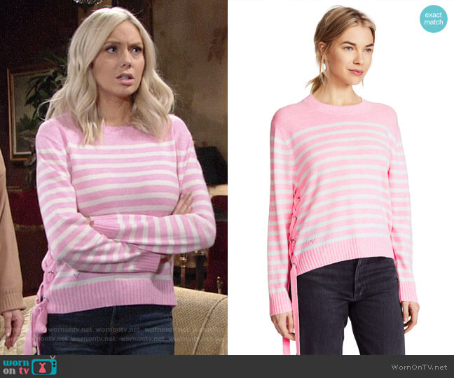 Zadig & Voltaire Franny Stripe Sweater worn by Abby Newman (Melissa Ordway) on The Young & the Restless