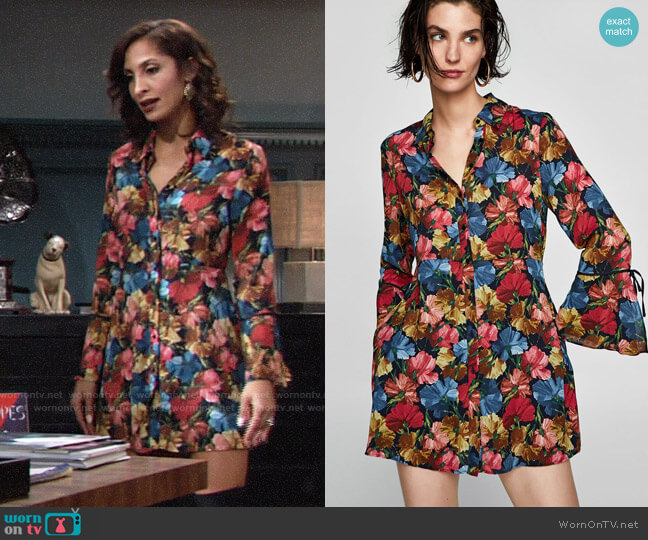 Zara Floral Print Jumpsuit Dress worn by Lily Winters (Christel Khalil) on The Young & the Restless