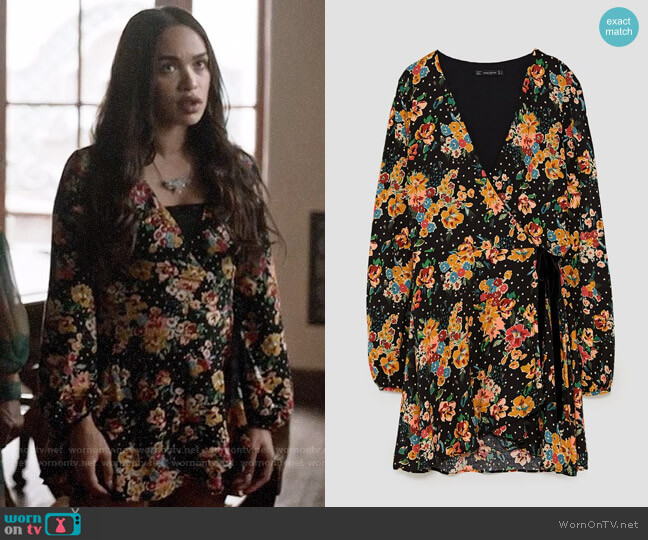 Zara Jumpsuit Dress with Floral Print worn by Cleopatra Coleman on Last Man On Earth