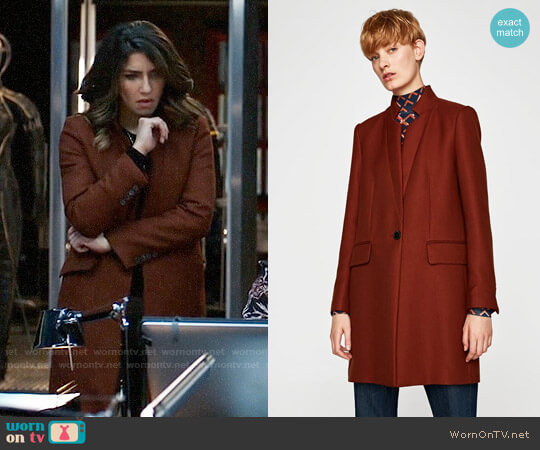 Zara Tailored Coat worn by Dinah Drake (Juliana Harkavy) on Arrow