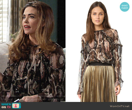 Zimmermann Lavish Braid Top worn by Victoria Newman (Amelia Heinle) on The Young & the Restless