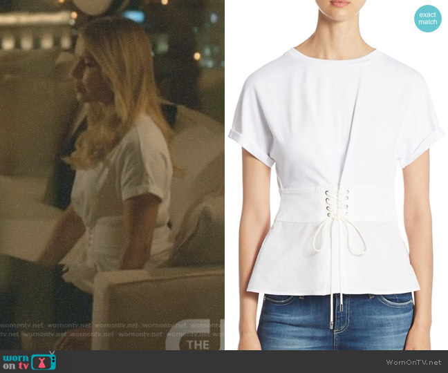 Corset Cotton Jersey Top by 3.1 Phillip Lim worn by Claire Holt on The Originals