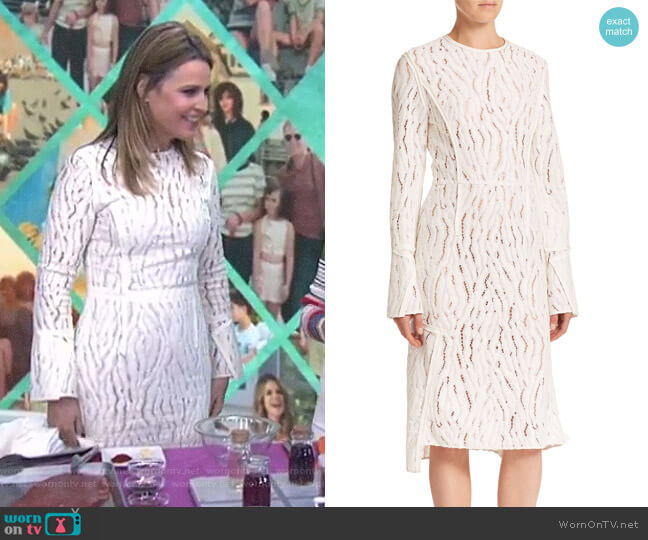 Seamed Lace Dress by 3.1 Phillip Lim worn by Savannah Guthrie  on Today