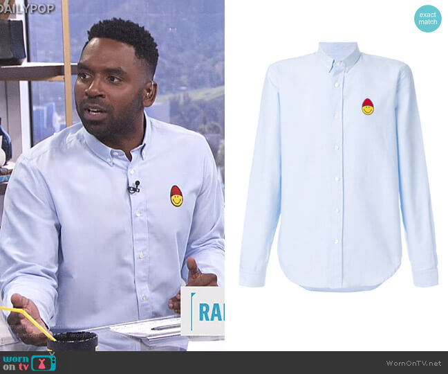Shirt With Smiley Patch by AMI Alexandre Mattiussi worn by Justin Sylvester  on E! News