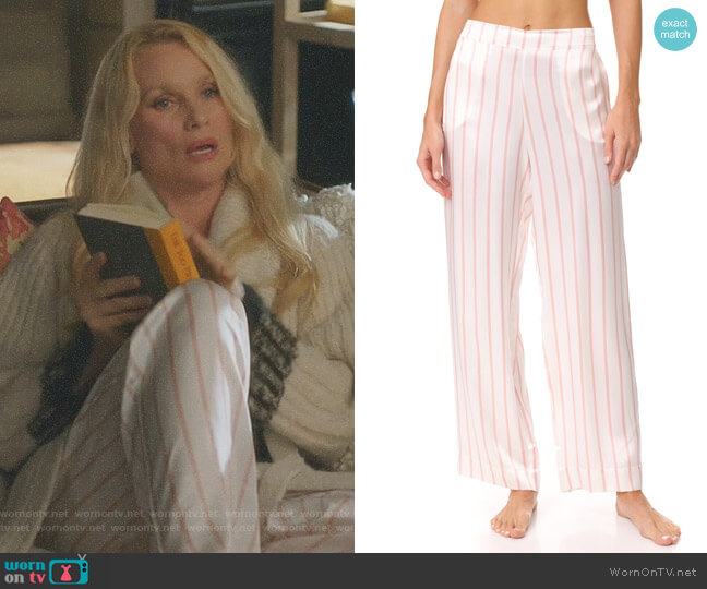 Pyjama Bottoms by Asceno worn by Nicollette Sheridan on Dynasty