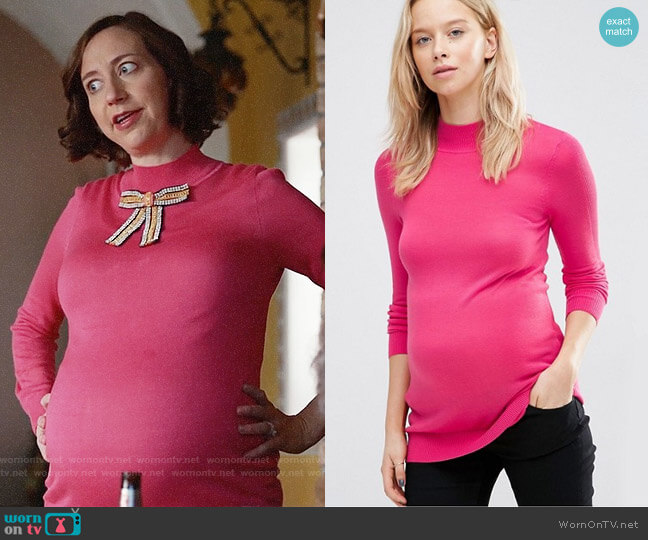 ASOS Maternity Sweater With High Neck worn by Kristen Schaal on Last Man On Earth