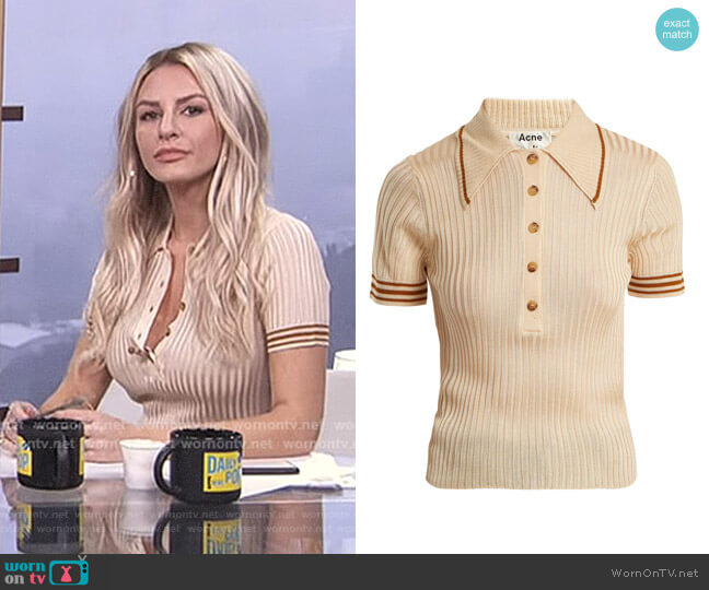 'Shanita' Polo-Shirt by Acne Studios worn by Morgan Stewart on E! News
