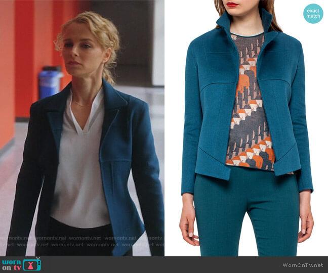 Hello Seamed Cashmere Jacket by Akris worn by Lizzie Needham (Bojana Novakovic) on Instinct