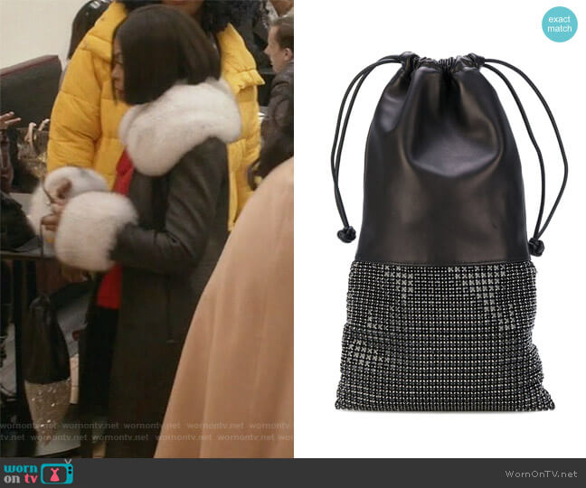 Black Leather Handbag by Alexander Wang worn by Taraji P. Henson on Empire