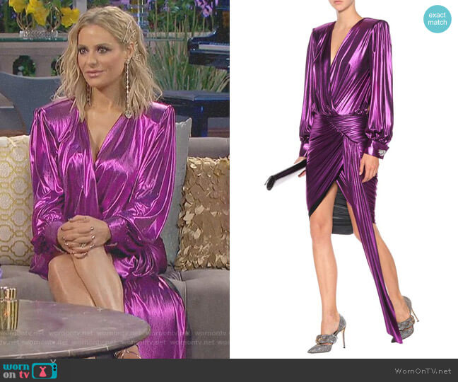 Asymmetrical Lame Dress by Alexandre Vauthier worn by Dorit Kemsley (Dorit Kemsley) on The Real Housewives of Beverly Hills