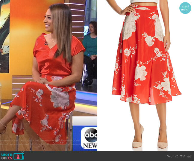'Nanette' Skirt by Alice + Olivia worn by Ginger Zee on Good Morning America