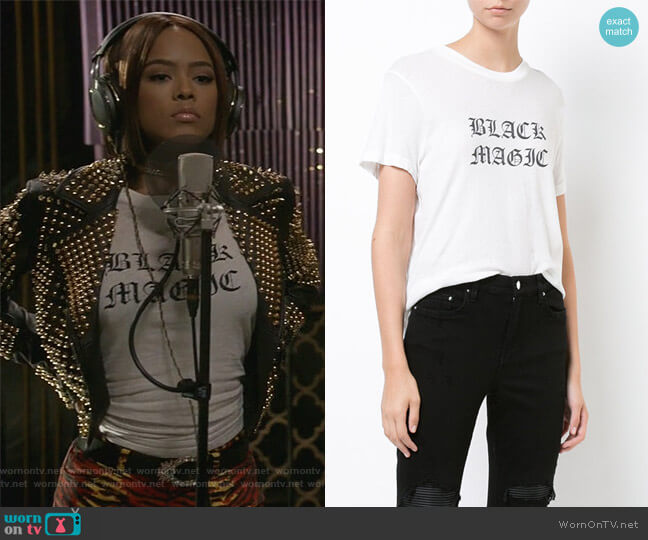 Black Magic T-shirt by Amiri worn by Tiana Brown (Serayah McNeill) on Empire