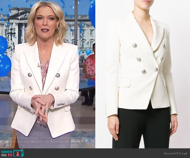 Wool Double-Breasted Blazer by Balmain worn by Megyn Kelly  on Today