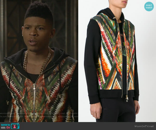 Folkloric Print Hoodie by Balmain worn by Bryshere Y. Gray on Empire