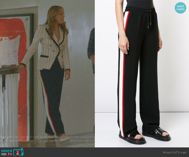 Contrast Side Panel Track Pants by Barbara Bui worn by Fallon Carrington (Elizabeth Gillies) on Dynasty