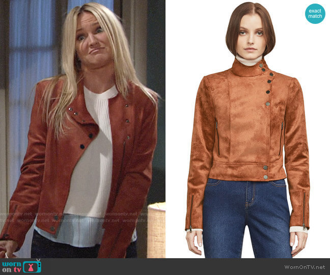 Bcbgmaxazria Hansen Jacket worn by Sharon Case on The Young & the Restless